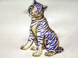 Watercolor Tiger by Phantassel