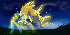 Mega Manectric Appears! by AlicornRarity