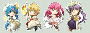 Comish - Magi stickers by oneoftwo