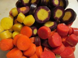 Colorful Cut Carrots 2 by Windthin