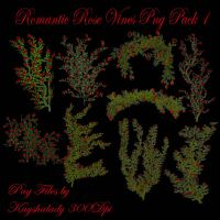 Romantic Rose Vines PNG pack 1 by kayshalady
