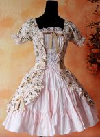 Infanta Tessa Front Opening Lace Up Lolita Dress by miccostumes
