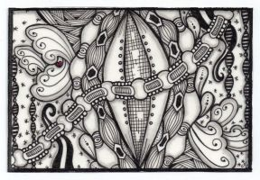 zentangle postcard by cajunhillbilly