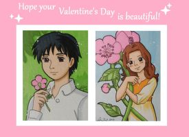 Arrietty  and Sho Valentine by LadyNin-Chan