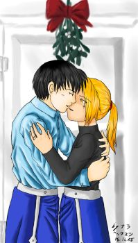 RoyxEd under the mistletoe by ChibiEdo