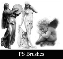Statue Brushes - set 2 by Lileya