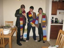 4th Doctor Crochet Scarf - Series 1 by Craftigurumi