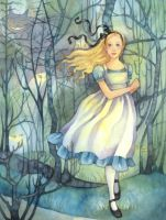 Alice in the Tulgey Wood by carmenmedlin