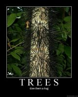 Demotivational Poster- Trees by Aquaticpainter