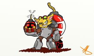 Ziggs The Bombexpert Lv 2color by hyenawolf147