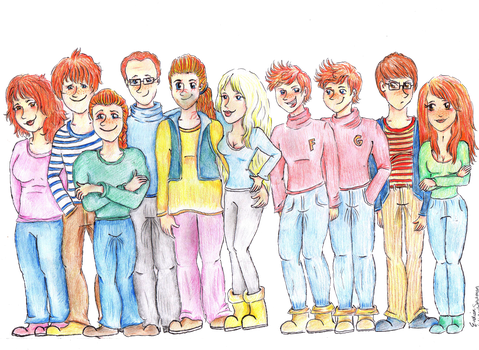 The Weasley family by Eveliien