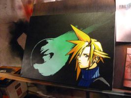 Cloud Strife Meteor Stencil by Branbot