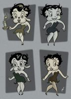 Betty Boop variations by HammersonHoek