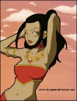 Beach Azula color by Ashygirl by skyraptor