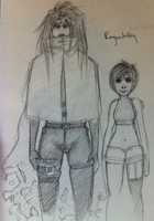 FF7 REQUESTS: VincentxYuffie by roolph