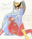 Shayera Hol and Wally West by Elementalist-1