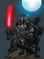 Darth Vader colored by MARR-PHEOS