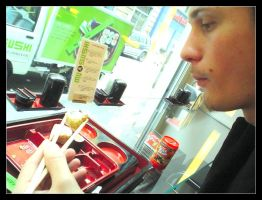 Eating Sushi. by Anere