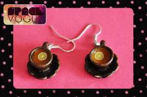 Cup earrings by Haszynka