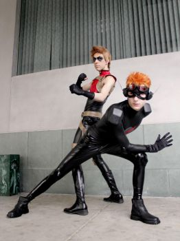 Get Back- Red Arrow and Kid Flash cosplay by Detailed-Illusion