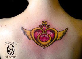 My First Tattoo - Brooch of Sailor Moon by FrancescaMisa