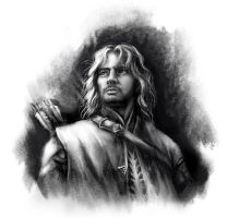 Faramir Sketch by DireImpulse