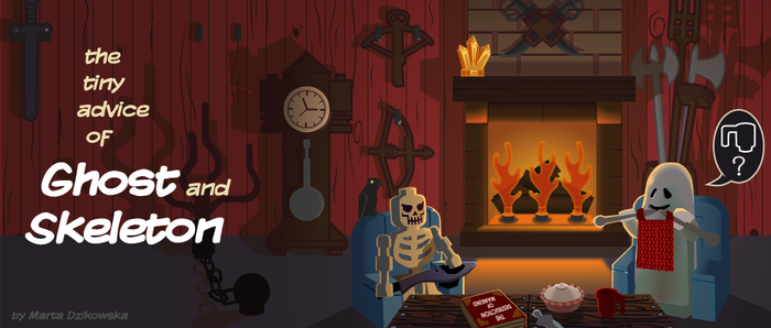 Ghost and Skeleton banner by Shinara