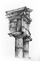 Greek Architecture - Doric columns by Saeleth