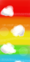 Rainbow and Clouds - CUSTOM BOX BACKGROUND #2 by Cherrylis