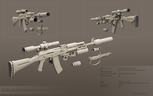 AK-74 grey by ABiator