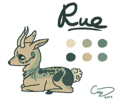 Rue Reference [Fursona] by catpuccinos