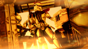 Patrol over Geonosis by guywiththesuitcase
