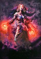 MTG Liliana Vess [paint over] by Falassion