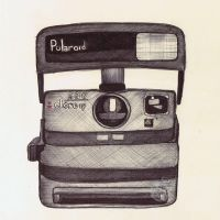 Ballpoint Polaroid by onecuriouschip