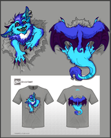 Cute Monster Shirt Design by BlackChaos666