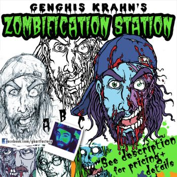 ZOMBIFICATION STATION - Portrait Commissions Info by GenghisKrahn