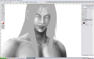 SEPHIROTH WIP or I'll Die 3 by Washu-M