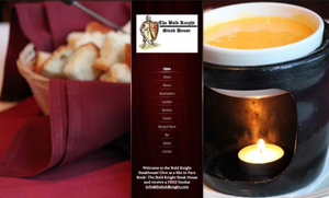 Bold Knight Restaurant Website by AngelaDesigns