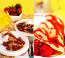 Irresistible Raspberry n strawberry/Nutella Crepes by theresahelmer