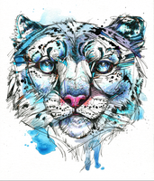 Icy Snow Leopard by FinchFight