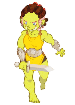 Shrimp the Orc by nickelOdd