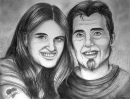 Amy and Louis DiNuzzo's Pencil Portrait by OtakuEC