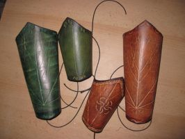 Leaf bracers by akinra-workshop