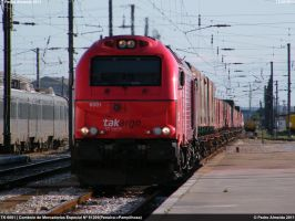 Takargo 6001 stopping...130611 by Comboio-Bolt