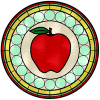 Apple Stained Glass Window by FluidGirl82