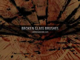 Broken Glass Brushes by xara24