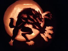 Werewolf Pumpkin Carving 2013 by Joniwen