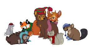 Woodland Critter Christmas by CHERUBlM