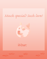 Valentine's Day Card from Doge || Much Love! Wow! by Kiibun