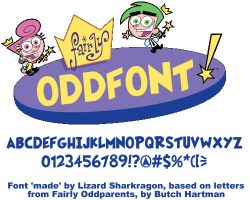 Font - Fairly OddFont by TheSharkGuy